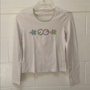 Escada Sport White long Sleeve T-shirt sz S.